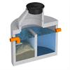 Alfa VÅJ, brunnsmodell, pumpbrunn för vattenåtervinning med integrerad sand- och slamavskiljare, brunnsmodell