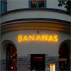 Skyltgruppen neonskylt, restaurang Bananas, Stockholm
