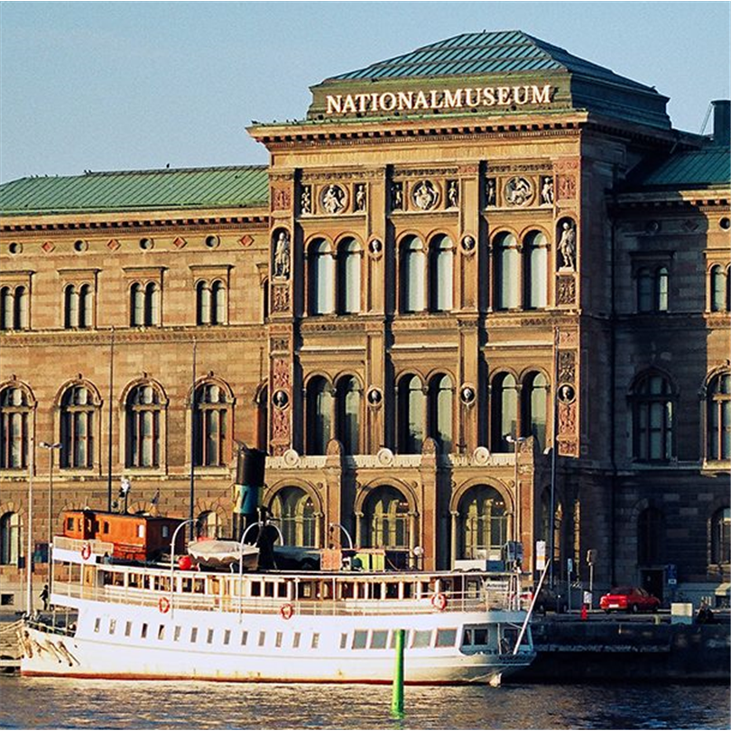 Skyltgruppen takskylt, Nationalmuseum, Stockholm