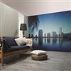 Huntonit Designvägg, dekor Miami Skyline