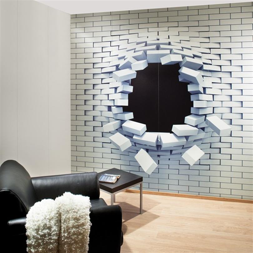 Huntonit Designvägg, Hole in wall