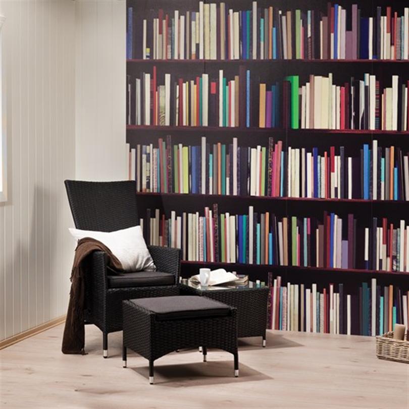 Huntonit Designvägg, Library