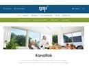 Multiglas kanaltak på webbplats