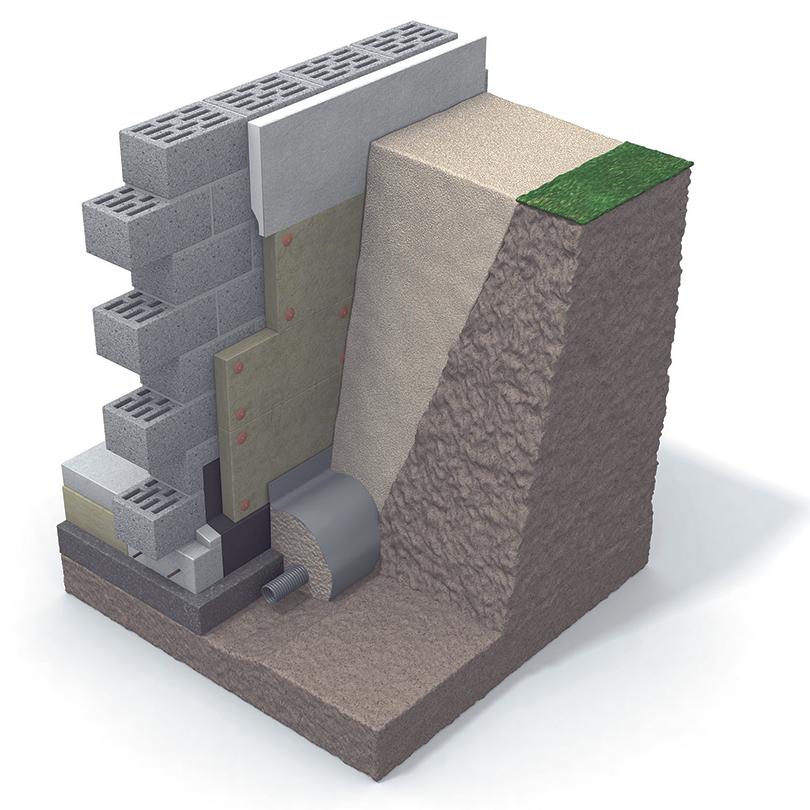 Paroc GRS 30 / GRS 20 grundisolering, 3D
