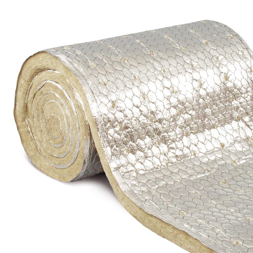 Stenullsmatta armerad med aluminiumfolie