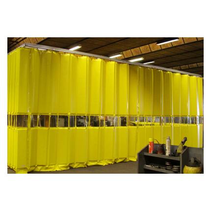 Vikbar akustikvägg, bullerdämpande