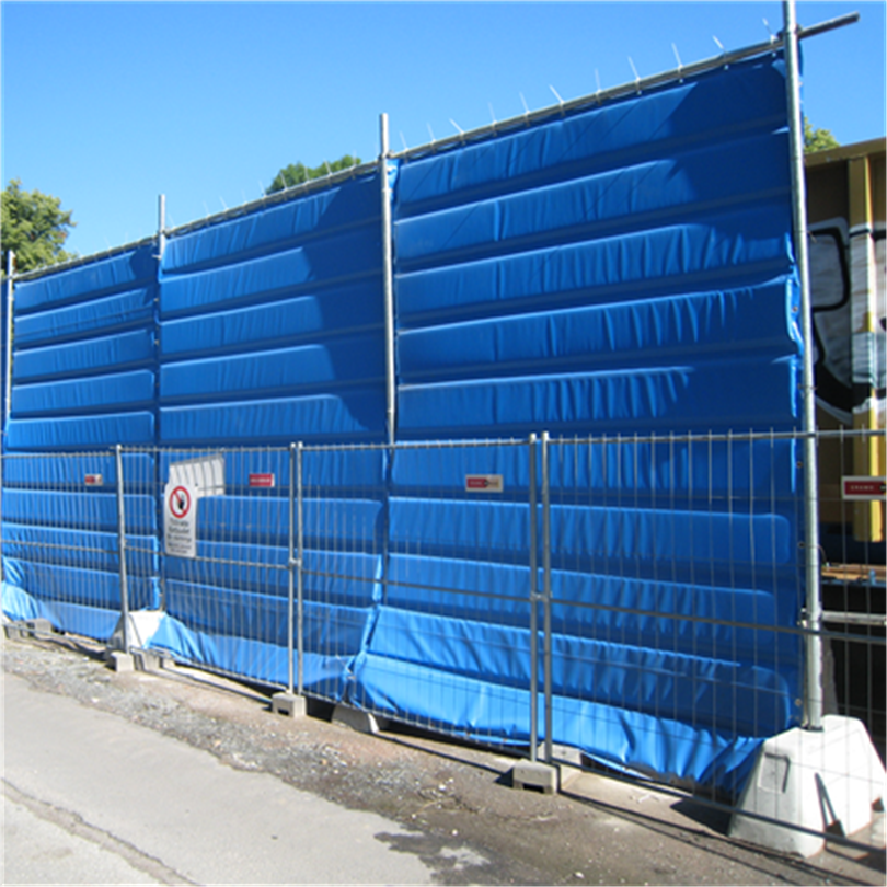 dFence bullerskydd till byggnadsstängsel