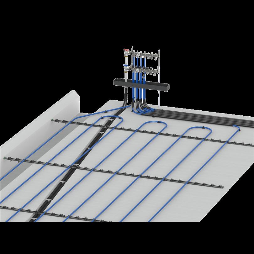 Thermotech förläggningssystem, ingjutning
