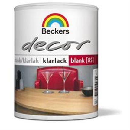 Decor Klarlack. Matt, Halvblank och Blank