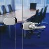 Serie Atlanta i aluminium, silver matt. HCS Compact System för glasdörrar