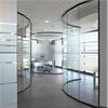 Bentech 50 väggpartier av glas