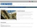 Bentech glastak på webbplats