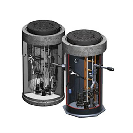 ACO Pumpstationer, mark