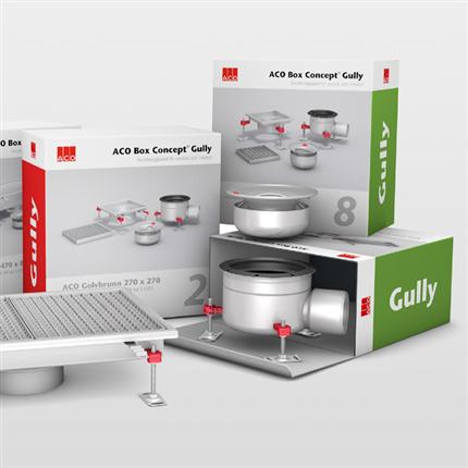 ACO Box Concept Gully golvbrunnar, golvrännor