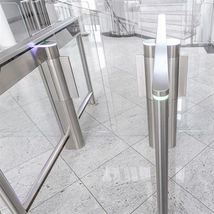 Automatic Systems SlimLane automatiska säkerhetsgrindar