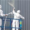 Rust-Oleum Noxyde korrosionsskydd på plåtfasad