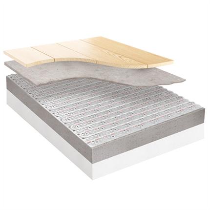 Roth Clima Comfort golvvärmesystem under flytande övergolv