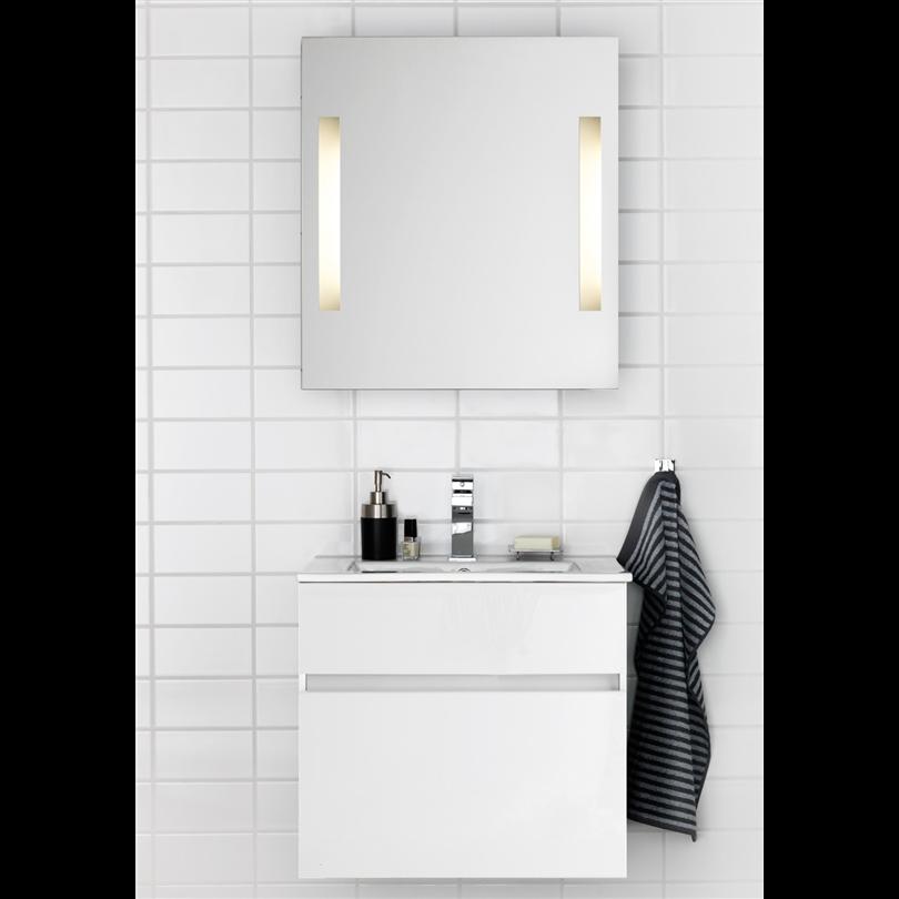 Hafa Tvättställskåp med tvättställ East 600, vit med spegel