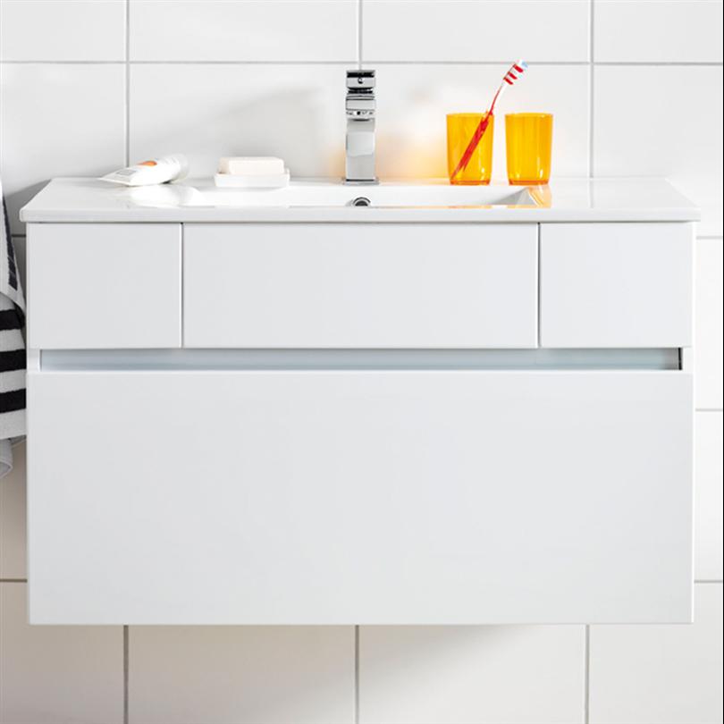 Hafa tvättställsskåp East 900, vit