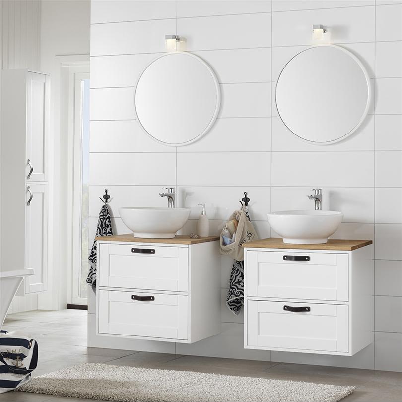 Hafa Bathroom Spegel rund vit