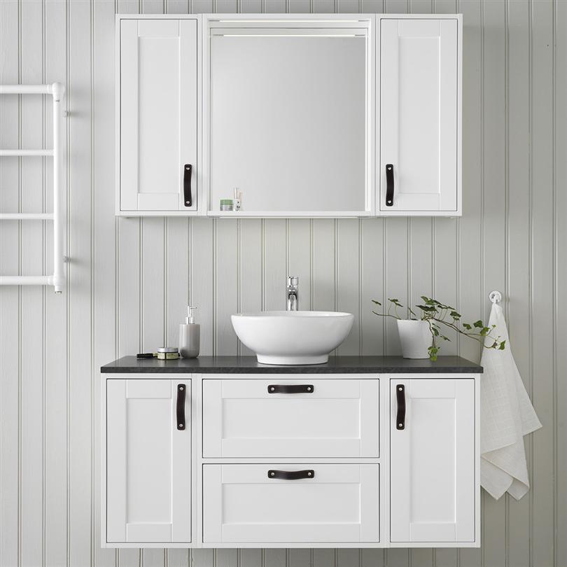 Hafa Bathroom Edge Spegelskåp 600 vit