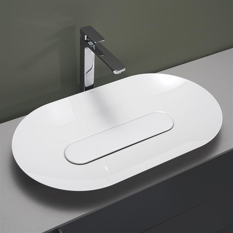 Hafa Bathroom Edge Oval Handfat