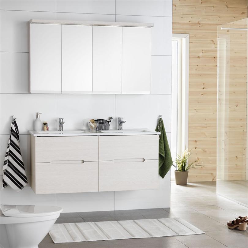 Hafa badrumsmöbler Sun 1200 med spegelskåp