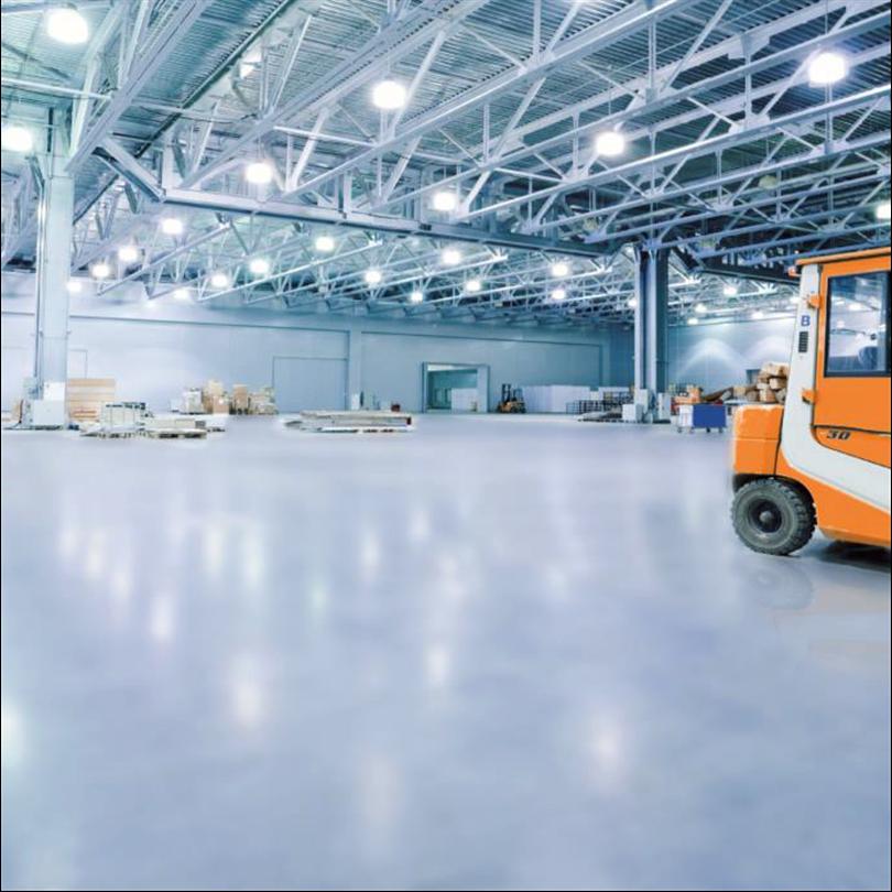 Slitstark golvbeläggning för industrier
