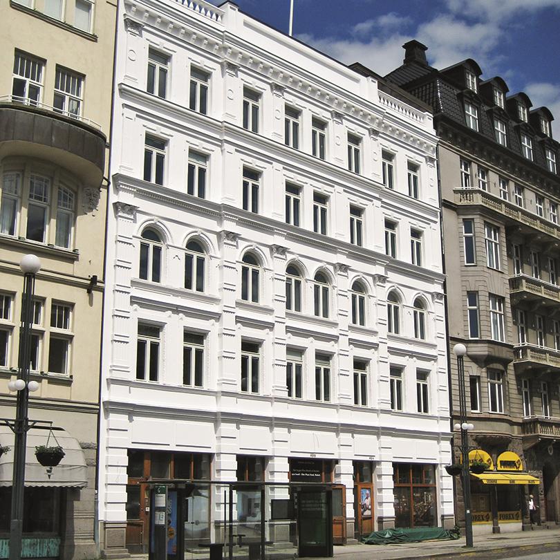 Caparol AmphiSilan W NQG fasadfärg, Malmö, Elite Plaza Hotell, Gustav Adolfs Torg 3
