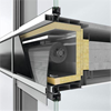 Solskydd CTB integrerat i fasad FW 50+/FW 60+