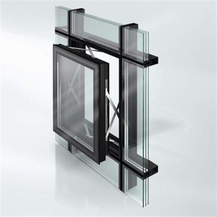 Schüco Jansen VISS fasadsystem av stål