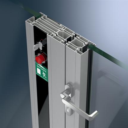 Schüco brandklassade dörr-/väggsystem