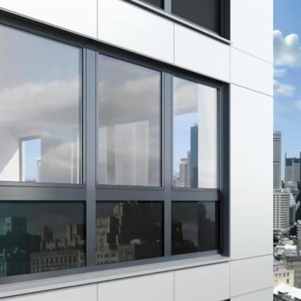 Schüco fönstersystem av aluminium