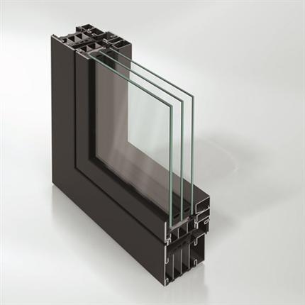 Schüco fönstersystem av stål