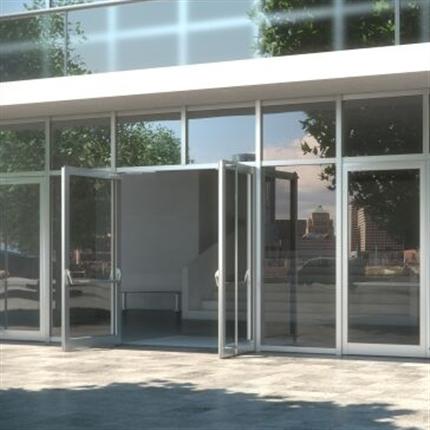 Schüco dörrsystem av aluminium