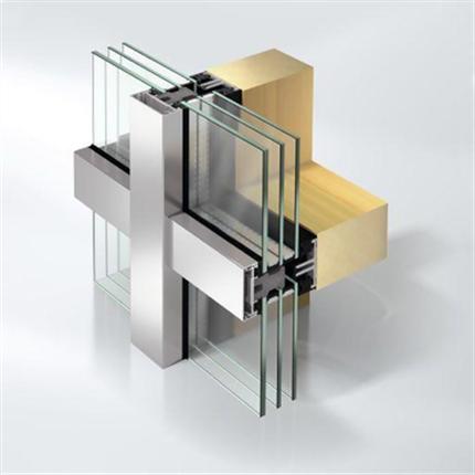 Schüco Fasad AOC 50 TI passivhuscertifierad påbyggnadskonstruktion