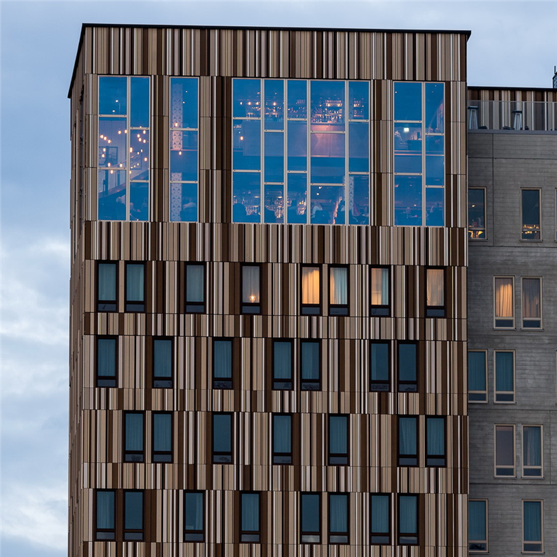 Schüco FWS glasfasader, Kust Hotell