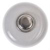 Eskilstuna Lådknopp 5311 av vitt porslin, fäste av mässing