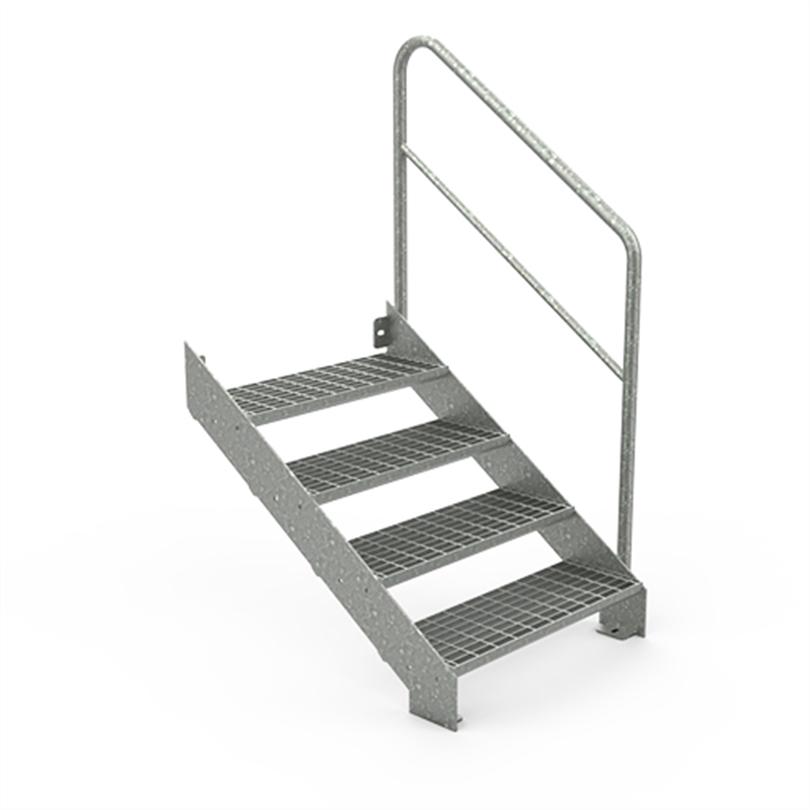 Vytab Standard rak trappa/lastkajstrappa med industriräcke