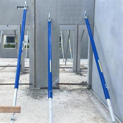 Väggstöd för prefab-montage, justerbara aluminiumprofiler invändiga spindelgänga