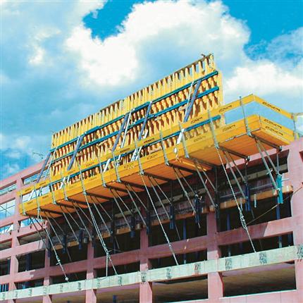 Klanklätterform för byggnadsverk, klätterform med arbetskonsol, säkert arbete, enkel att hantera