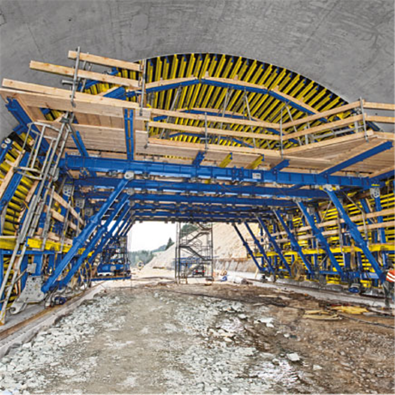 Ekonomiskt tunnelform för tunnelbyggnad i öppet schakt, reducerad materialandel