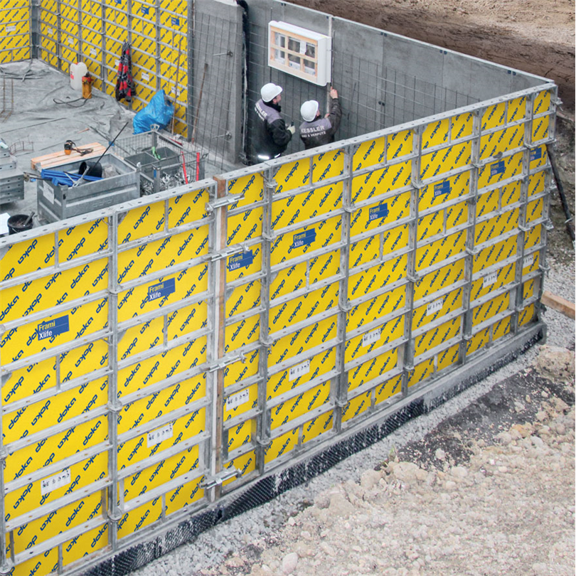 Luckformar vid gjutning av vägg, pelare, fundament
