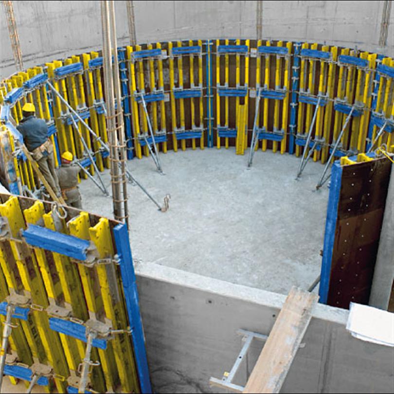 Rundform för steglös formgjutning av runda väggar, praktisk rundformselement för exakta kurvor