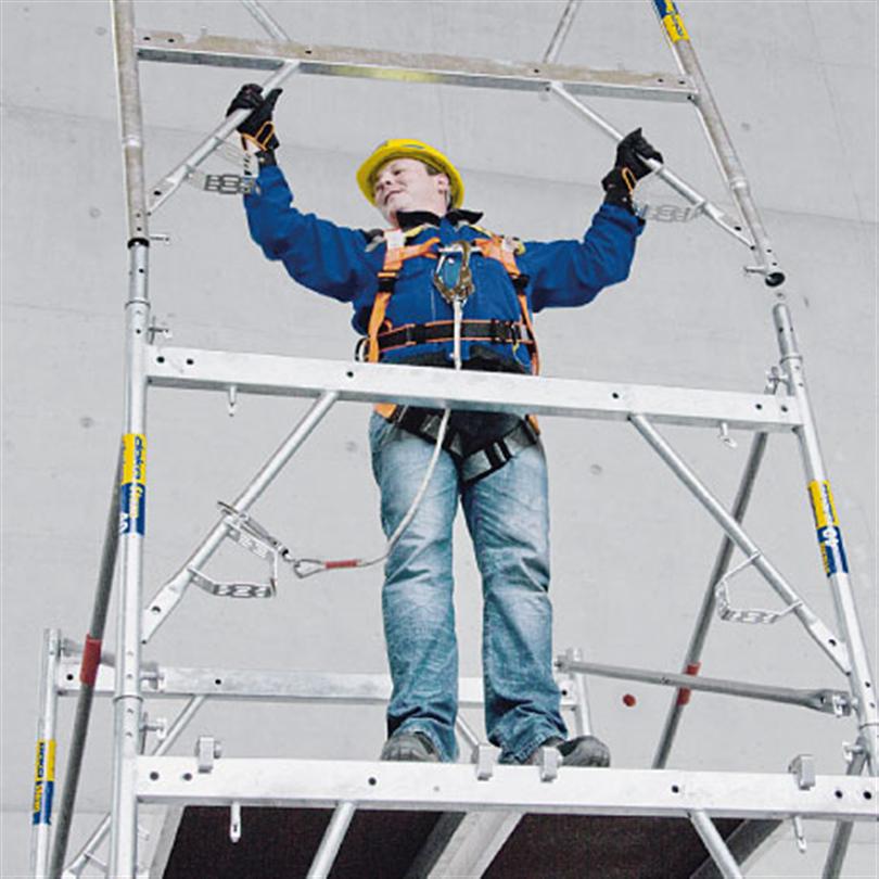 Stämptorn, med stående montering, effektivt stämpsystem för husbyggnad