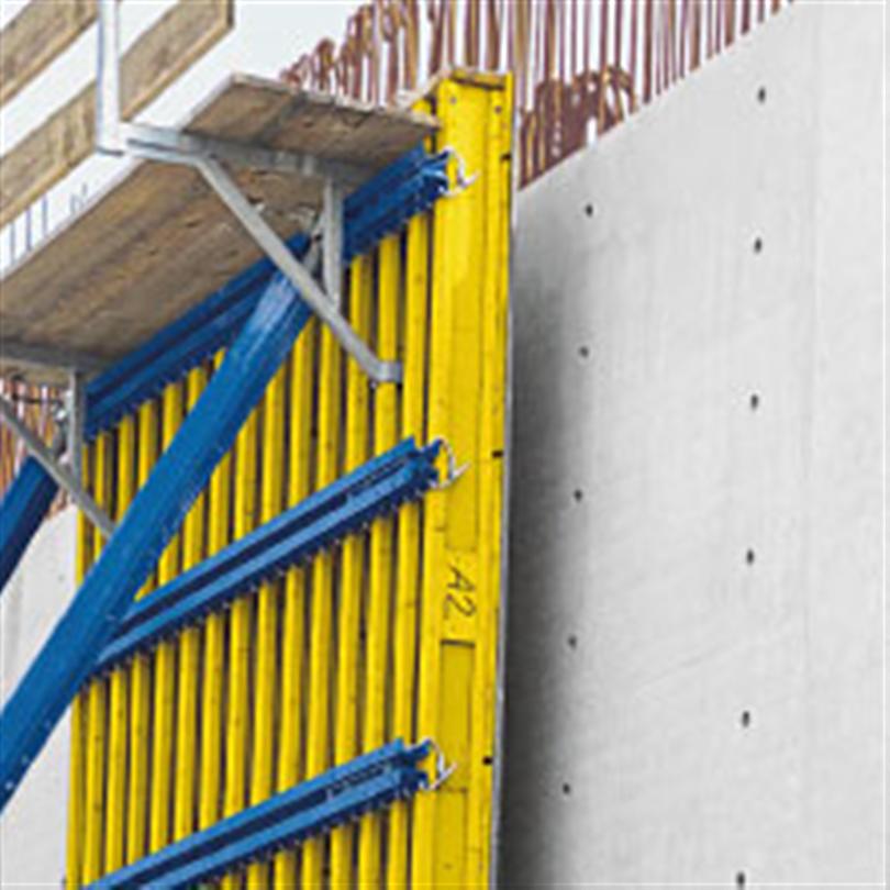 Förmonterad träbalksform, omfattande arbetssäkerhet, snabbt och ekonomiskt arbete