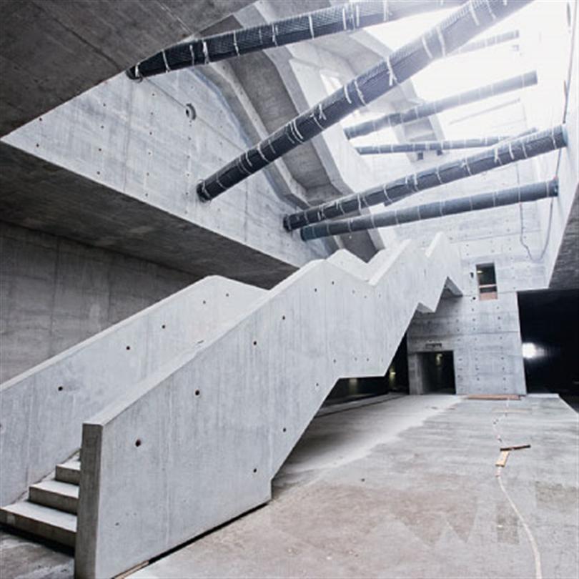 Förmonterad träbalksform, i Tunnel Leipzig och stationer, Tyskland