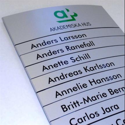 Swedsign AluLine skyltsystem