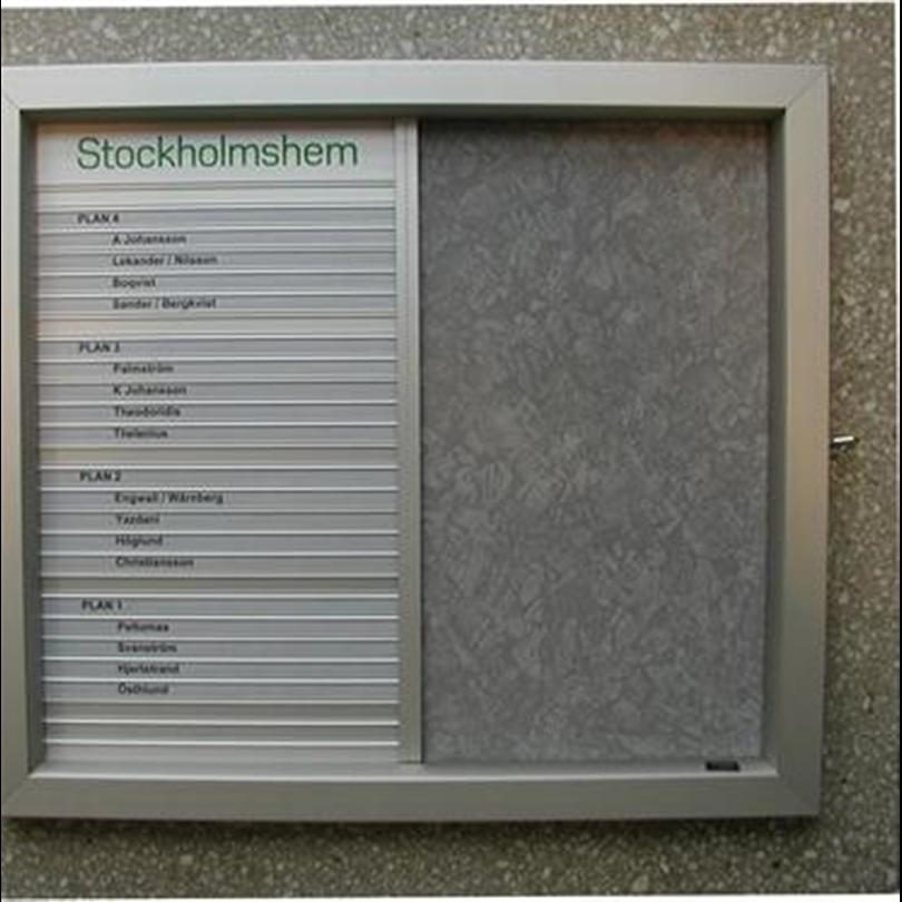 Swedsign namntavlor / hyresgästregister