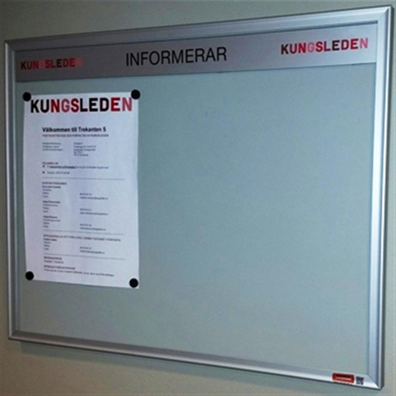 Swedsign anslagstavlor med aluminiumram